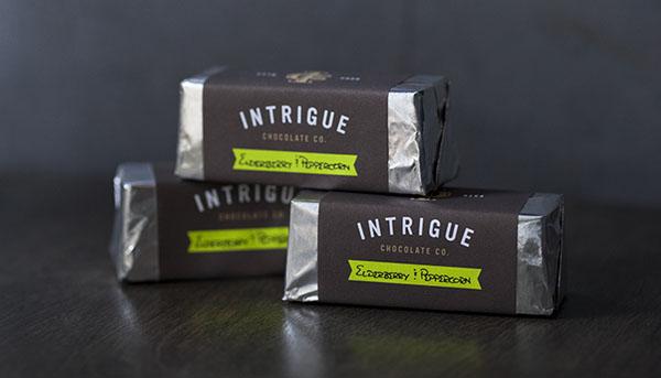 Intrigue Chocolate Co - Branding by Jason Grube and Corianton Hale