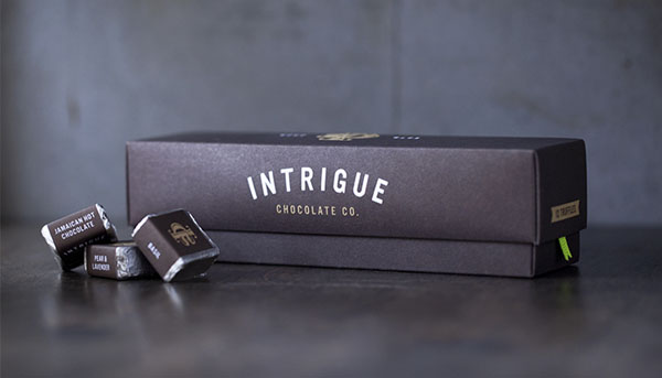 Intrigue Chocolate Co - Package Design by Jason Grube and Corianton Hale