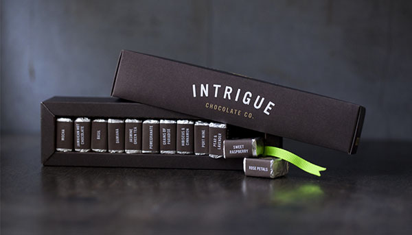 Intrigue Chocolate Co - Packaging Design by Jason Grube and Corianton Hale