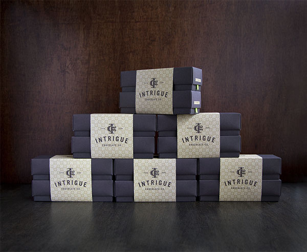 Intrigue Chocolate Co - Packaging by Jason Grube and Corianton Hale