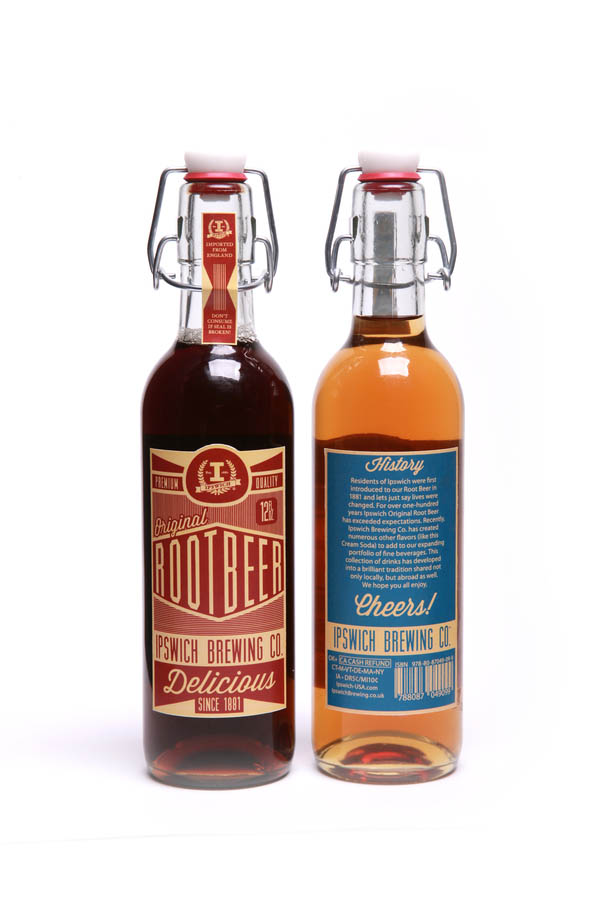 Ipswich Brewing Co. - Beer Bottles Packaging Student Project