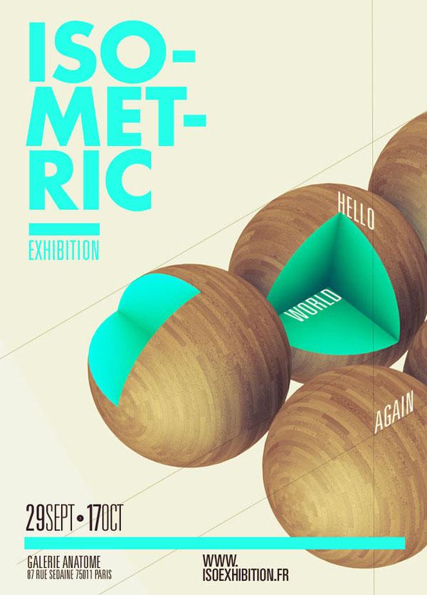 Graphic Poster Designs by Thomas Ciszewski for Isometric Exhibition