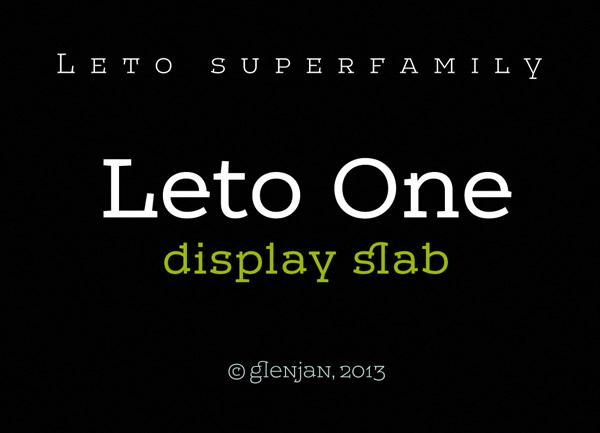 Leto One - Display Slab Superfamily by Glen Jan