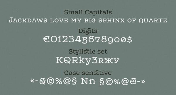 Leto One - Small Capitals, Digits, Stylisitc Set, Case Sensitive