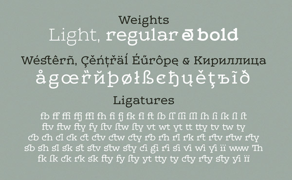 Leto One - Weights, Supported Characters, Ligatures