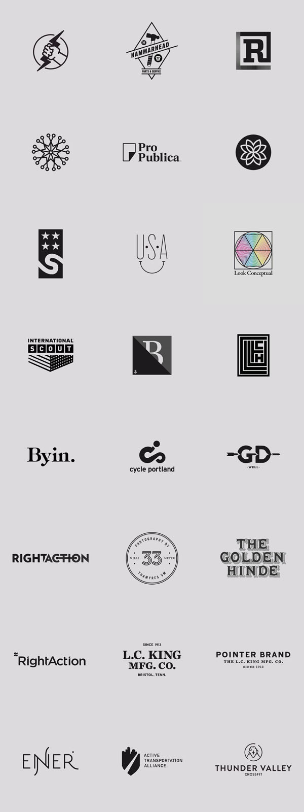 Logo Design Inspiration – Graphics by Daniel Blackman