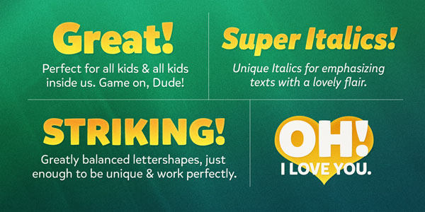 Mikado - a font family for kids by Hannes von Döhren