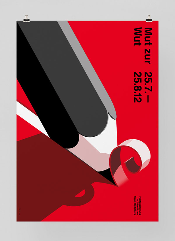 Mut Zur Wut - Exhibition Poster Design by Felix Pfäffli