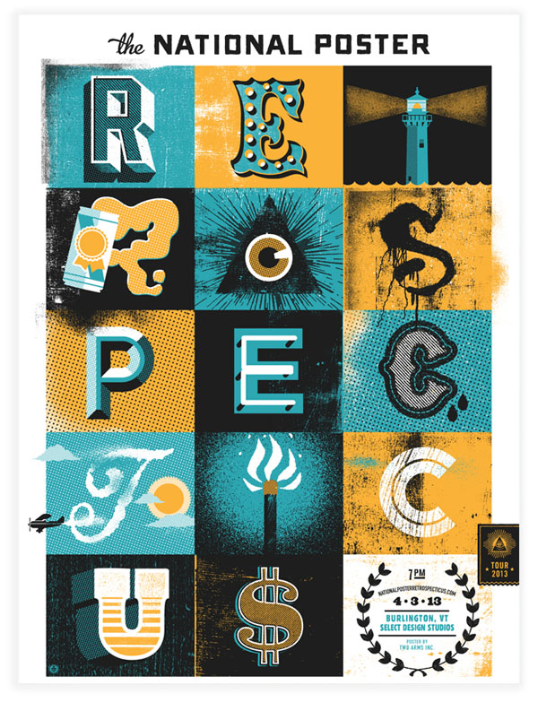 National Poster Retrospecticus - Artwork by Two Arms Inc.