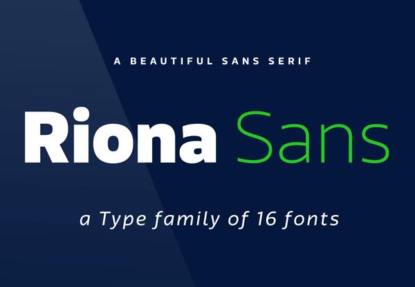 Riona Sans - Type Family