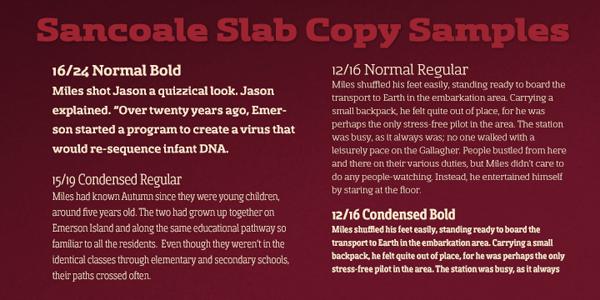 Sancoale Slab Copy Samples