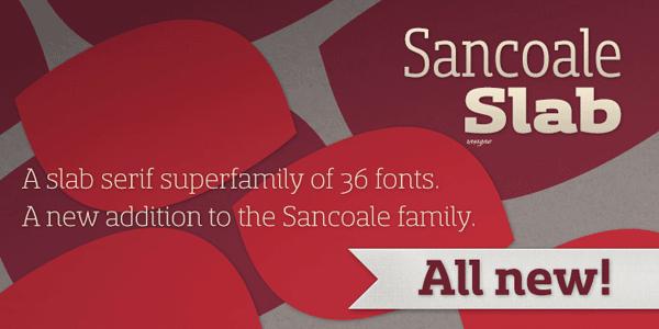 Sancoale Slab Serif Font Family by Insigne