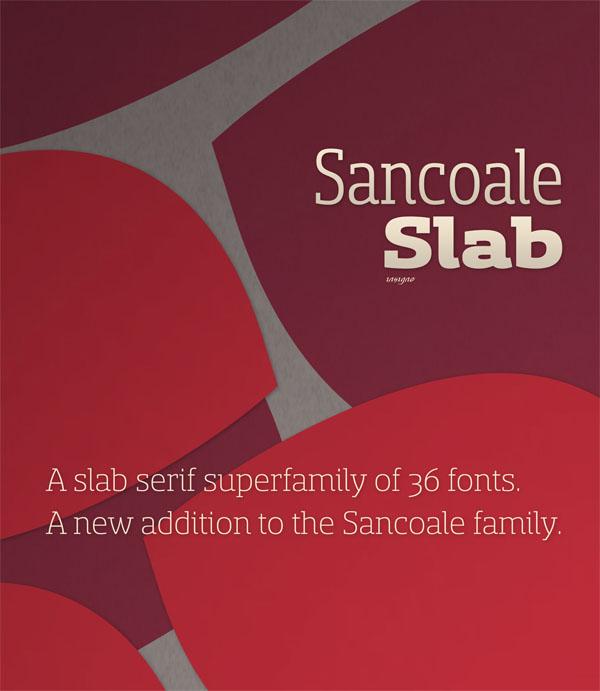 Sancoale Slab Serif Type Family by Insigne
