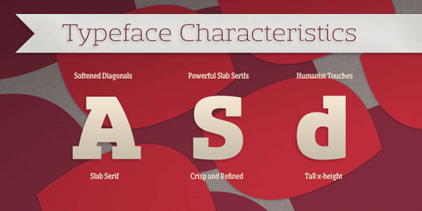 Sancoale Slab - Typeface Characteristics
