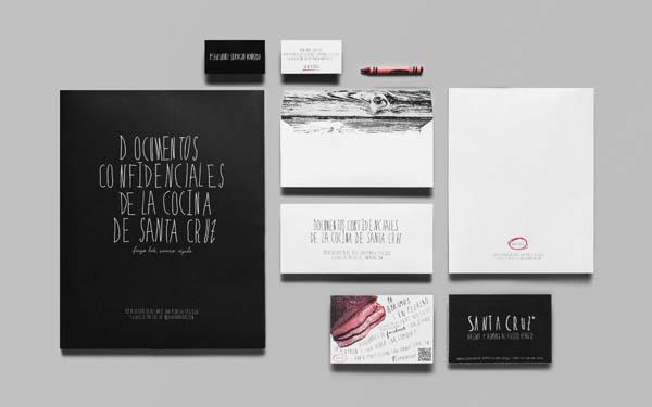 Santa Cruz - Mexican BBQ Restaurant - Stationery Design by Anagrama