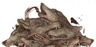 Scream/Homo Homini Lupus - watercolor, gouache and sumi on paper