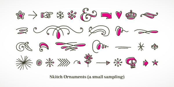 Skitch Ornaments