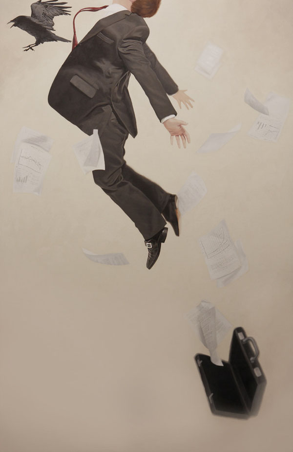 Relativity: Surreal Painting by Alex Hall