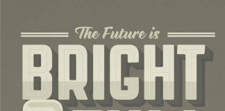 The Future is Bright - Poster for Urban Times Online Magazine, London