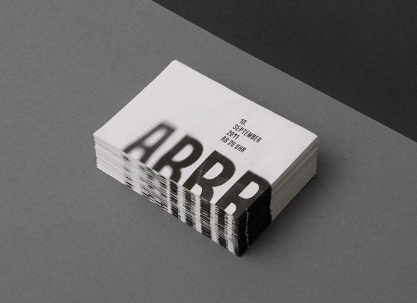 Typographic Flyer Design By KasperFlorio For Abbruchhaus Zukunft