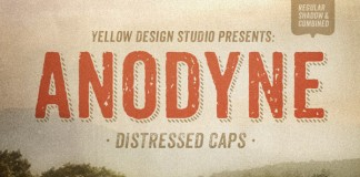 Anodyne - Distressed Typeface by Yellow Design Studio
