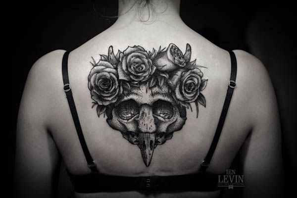 Big Skull Tattoo Design by Ien Levin