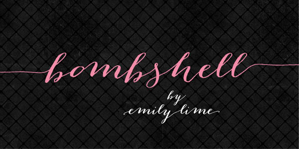 Bombshell Pro Hand Calligraphy Font By Emily Lime