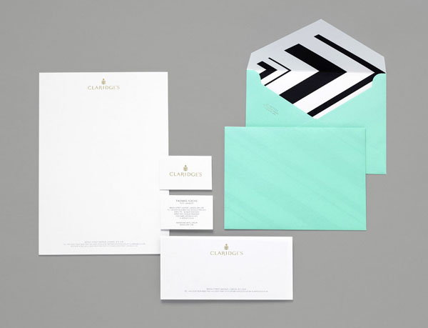 CLARIDGE'S - Stationery Design by Construct
