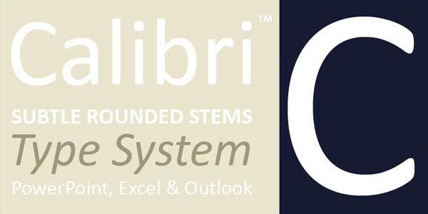 Calibri - Modern Sans Serif Font Family