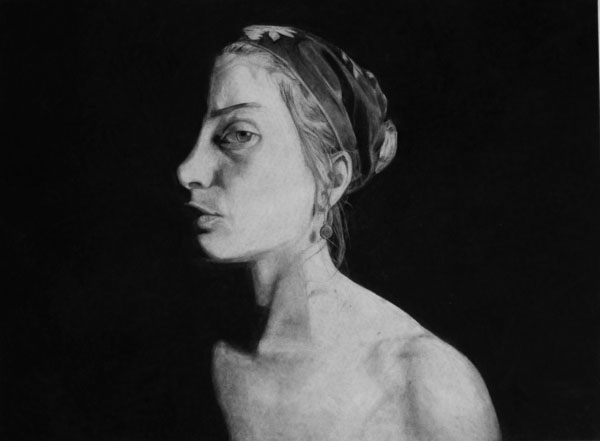 Charcoal Drawing by Kelly Blevins