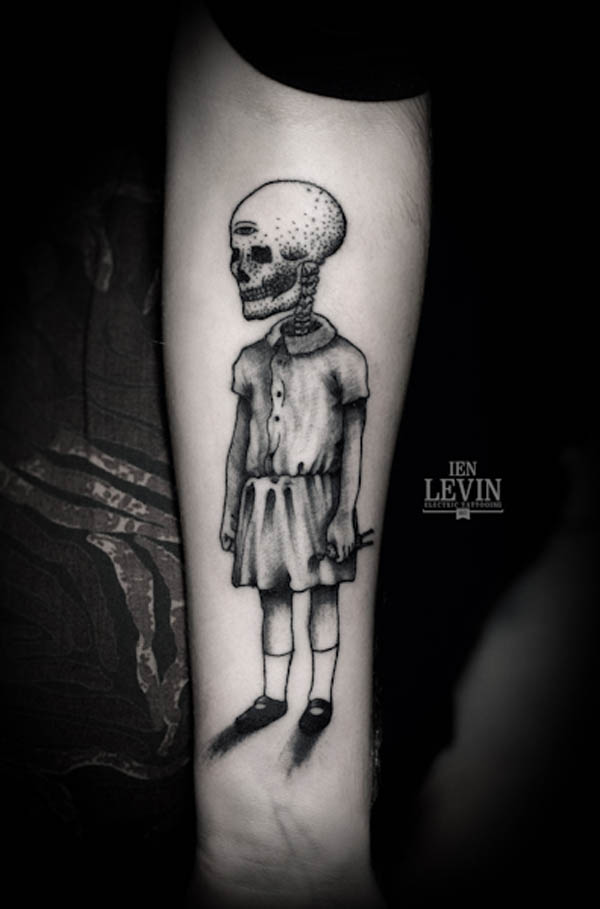 Creepy Tattoo Design by Ien Levin
