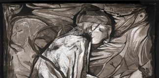 Curl Up - Ink on Paper Artwork by Boo Saville