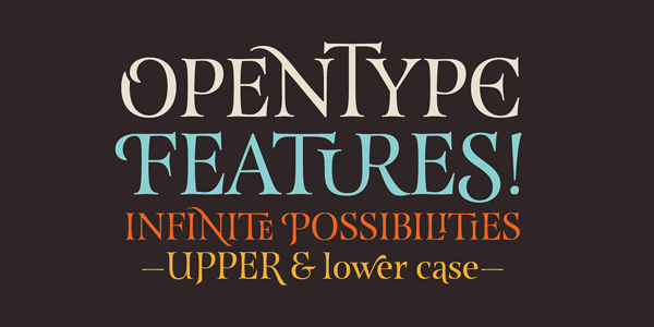 The versatile OenType features offer infinite possibilities. Try it out!