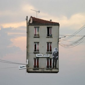 Flying Houses - Photo Manipulations by Laurent Chéhère