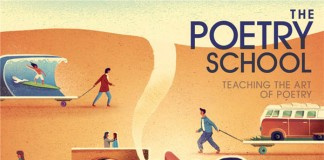 Front Cover Illustration by Jack Hudson for The Poetry Schools - Summer Brochure