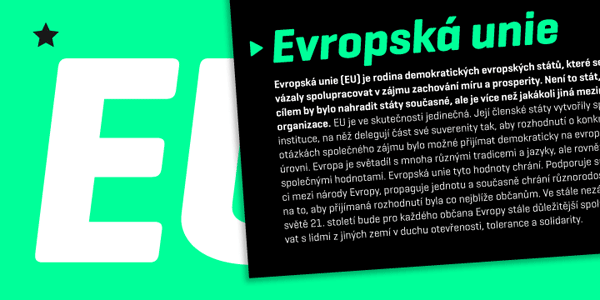 The design of this typeface is characterized by a linear geometry mixed with rounded edges.