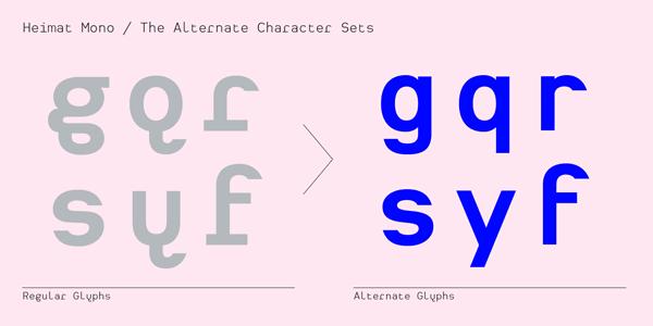 Heimat Mono - Alternate Characters