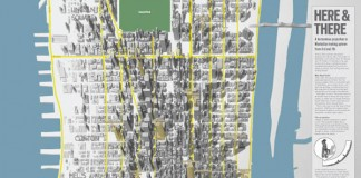 Here & There - Manhattan Uptown - Horizonless Projections by Studio BERG