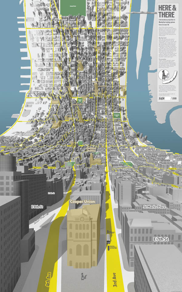 Here & There - Manhattan Uptown - Horizonless Projections by design consultancy BERG