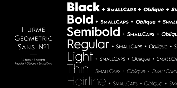 Hurme Geometric Sans No.1 - 14 Fonts, 7 Weights