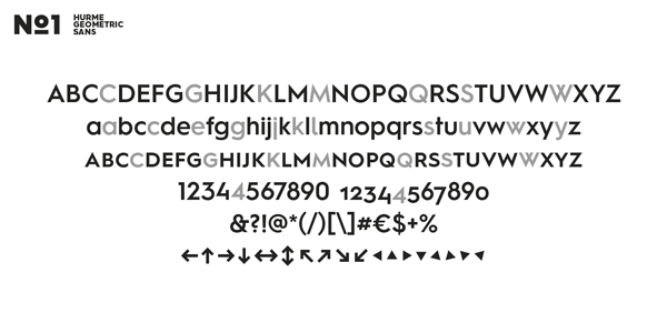 Hurme Geometric Sans No.1 - Characters