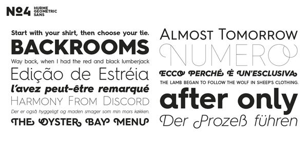 Hurme Geometric Sans No.4 - Different Weights
