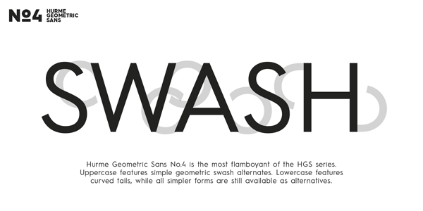 Hurme Geometric Sans No.4 - Swash Alternates