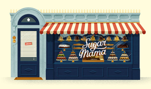 Illustration by David Sierra for the Sugar Mama Identity