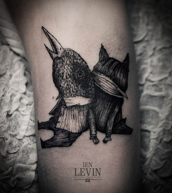 Illustrative Tattoo Design by Ien Levin