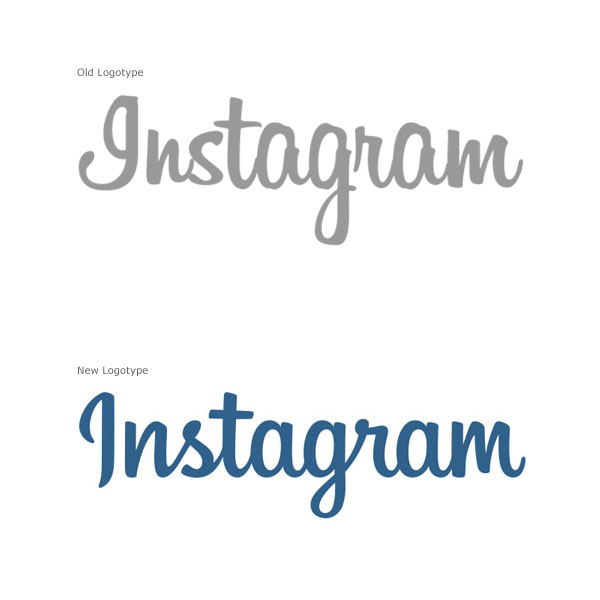Instagram - Old Logo vs New Logotype