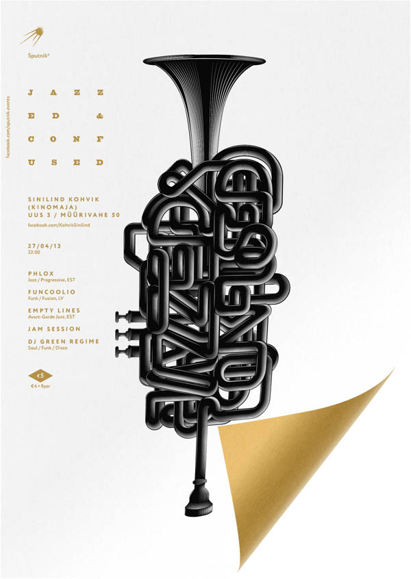 Jazzed & Confused - Poster Design by Anton Burmistrov for Sputnik-6