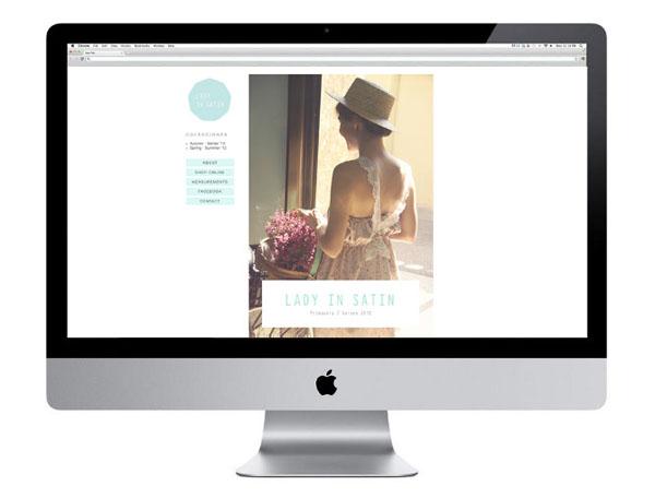Lady in Satin - Website Design by Carla Cascales Alimbau