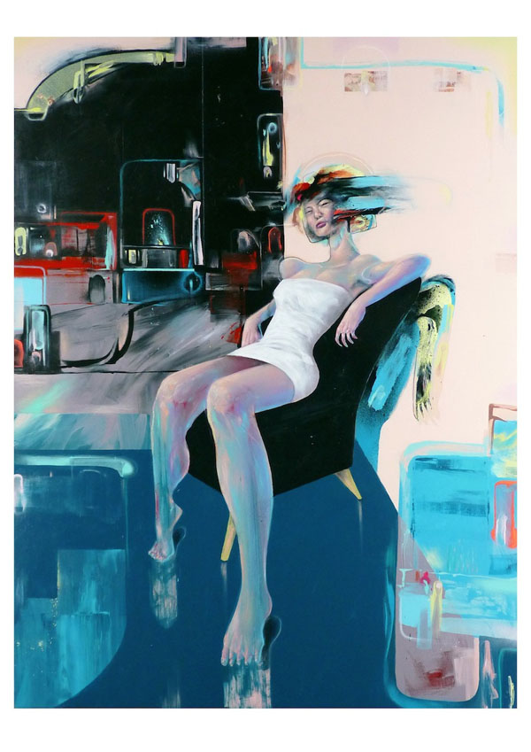 Lounger - Painting by Mike Carr