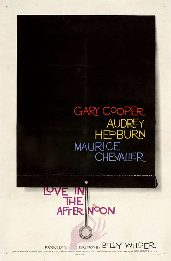 Love in the Afternoon - Movie Poster by Saul Bass